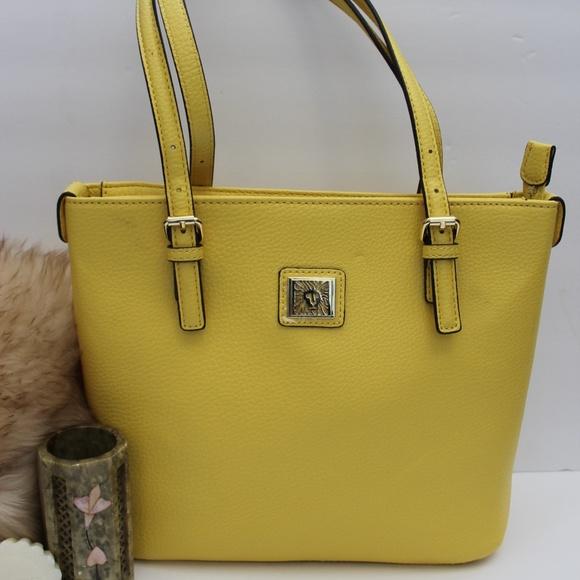 efd3f64e08 Anne Klein Handbags - ANNE KLEIN YELLOW SUMMER SPRING HANDBAG